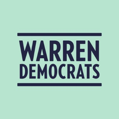 warren democrats twitter icon logo
